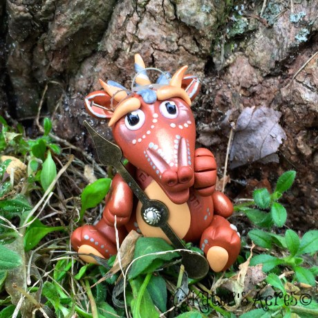"Polymer Clay Steampunk Dragon ""Mordecai"" by KatersAcres"