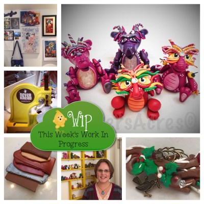 WIP Wednesday in Kater's Acres Polymer Clay Studio | New wall art, NEVERKnead, blends, videos, samples, & dragons too!