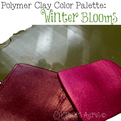 Polymer Clay Winter Blooms Color Palette by KatersAcres | Click for more polymer clay tutorials, hints, tips, & tricks