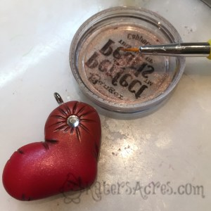 Adding Mica Powder to your pillow heart by KatersAcres