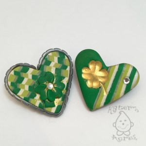Saint Patrick's Day Hearts by Katie Oskin
