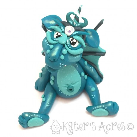 Teak, Polymer Clay Collectible Dragon | Handmade in USA by KatersAcres