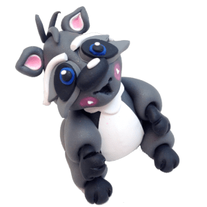 Polymer Clay Raccoon by KatersAcres