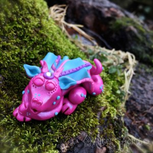 """Polymer Clay Dragon, """"Dreamy"""" by KatersAcres 