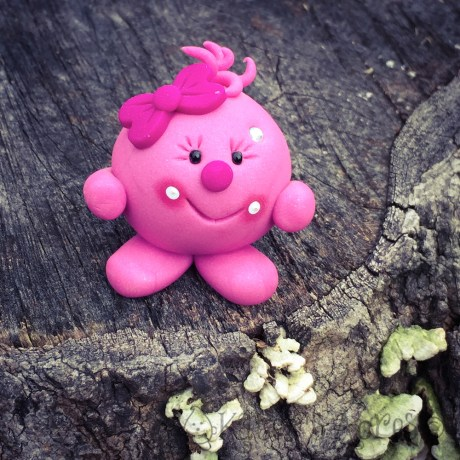 Lolly©, Handmade Polymer Clay Figurine by KatersAcres | Available for adoption at KatersAcres.com