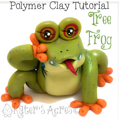 Polymer Clay Tree Frog Tutorial by KatersAcres