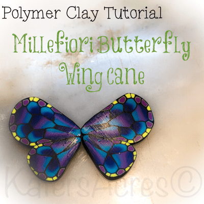 Polymer Clay Tutorial Millefiori Butterfly Wing Cane by KatersAcres
