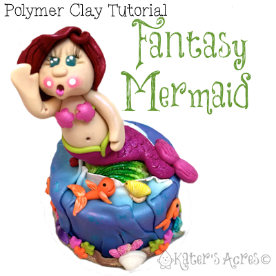 Fantasy Mermaid Polymer Clay Tutorial by KatersAcres