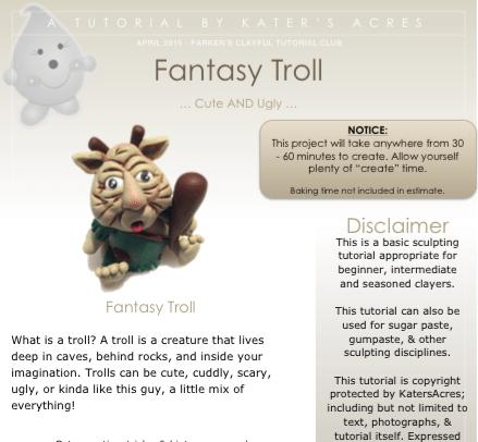 Polymer Clay Troll Tutorial PREVIEW