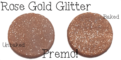 2015 Polyform Color Review - Premo Sculpey Polymer Clay in Rose Gold Glitter