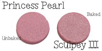 2015 Polyform Color Review - Sculpey Polymer Clay in Princess Pearl