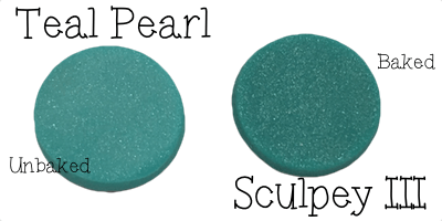 2015 Polyform Color Review - Sculpey Polymer Clay in Teal Pearl
