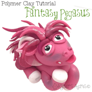 Fantasy PEGASUS Polymer Clay Tutorial by KatersAcres