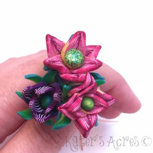 Polymer Clay Flower Head Pins by KatersAcres | CLICK for tutorial