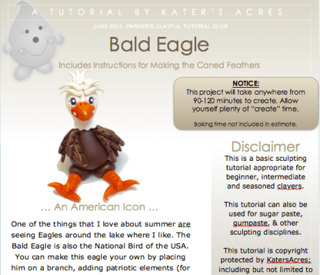 Bald Eagle Polymer Clay Tutorial by KatersAcres PREVIEW