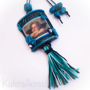 Polymer Clay Inro Amulet by KatersAcres