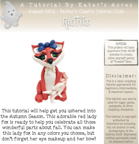 Polymer Clay Fox Tutorial PREVIEW by KatersAcres