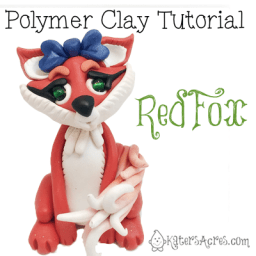 Polymer Clay Red Fox Tutorial by KatersAcres