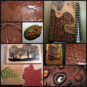 Polymer Clay Top Five Texture Tools | Rubber stamps and texture sheets demonstration by Chris Kapono