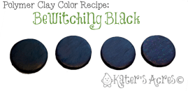 Bewitching Black Polymer Clay Color Recipe by KatersAcres | CLICK to get the color recipe