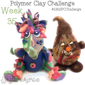 2015 Polymer Clay Challenge, Week 35 by KatersAcres | #2015PCChallenge