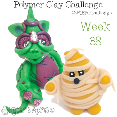 2015 Polymer Clay Challenge, Week 38 by KatersAcres | #2015PCChallenge