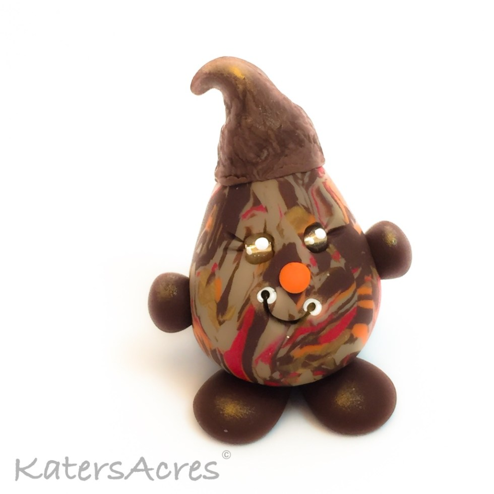 Polymer Clay Figurine, Acorn Parker - Limited Edition OOAK Handmade Collectible | Ready for adoption on Etsy
