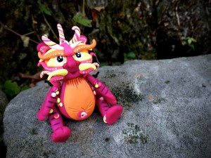 """Polymer Clay Dragon """"Bristol"""" by Katie Oskin of KatersAcres, Ready for Adoption on Etsy"""