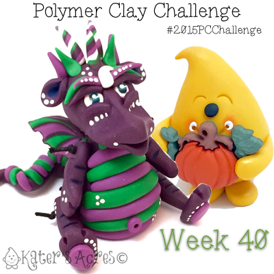 2015 Polymer Clay Challenge, Week 40 by KatersAcres | #2015PCChallenge