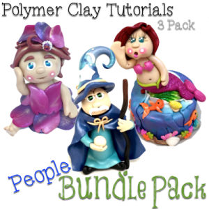 How to Make Whimsical PEOPLE Polymer Clay Tutorials PDF Bundle Pack of 3 Figurine Tutorials from KatersAcres