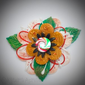 Polymer Clay Pieced Holiday Christmas Flower Tutorial by KatersAcres