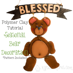 Polymer Clay Bear Wall Hanging Tutorial by KatersAcres