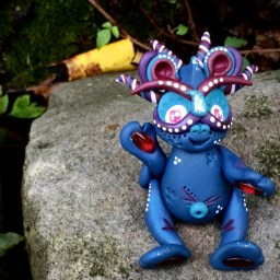 "Polymer Clay Dragon ""Jubilee"" by Katie Oskin of KatersAcres, Ready for Adoption on Etsy"