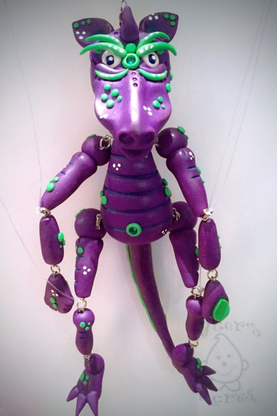 Givr the Polymer Clay Marionette Dragon by KatersAcres | Week 52 of the #2015PCChallenge