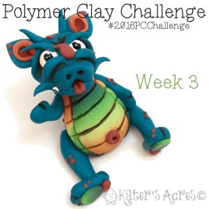 "2016 Polymer Clay Challenge - Week 3 ""Tilbert"" with #KatersAcres #2016PCChallenge"