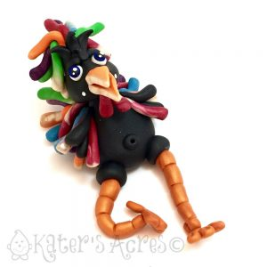 Polymer Clay Rooster Tutorial by KatersAcres   CLICK to learn how Parker's Clayful Tutorial Members got this for FREE in January 2016
