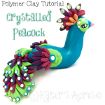Polymer Clay Peacock Tutorial by KatersAcres   CLICK to get the tutorial and supply lists