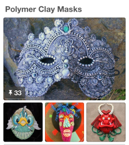 Polymer Clay Masks Pinterest Board