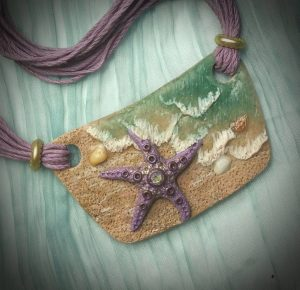 Starfish Pendant by Laurie DeMers Grassel for January Tribal Swap