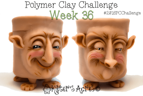 Polymer Clay Face Vase #2016PCC - Week 36 by KatieOskin