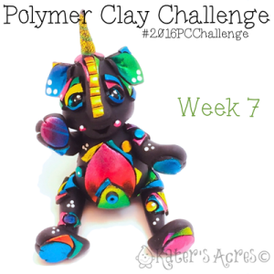 """2016 Polymer Clay Challenge - Week 7 """"Shattered"""" with #KatersAcres #2016PCChallenge"""