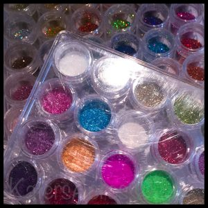 Polymer Clay & Glitter Storage by Katie Oskin of KatersAcres