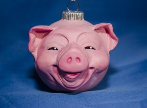 Piggy Ornament by Cyndi Small