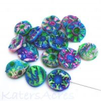 Rustic Beads by Katie Oskin of KatersAcres | Made from Blue Bottle Tree's Rustic Beads Tutorial