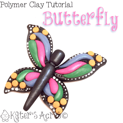 Polymer Clay Butterfly Tutorial by KatersAcres