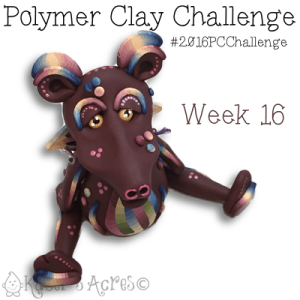 2016 Polymer Clay Challenge, Week 16 Dragon by KatersAcres