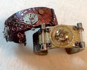 Art Jewelry Adventure Project with Teresa Pandora Salgado - Steampunk Cuffs
