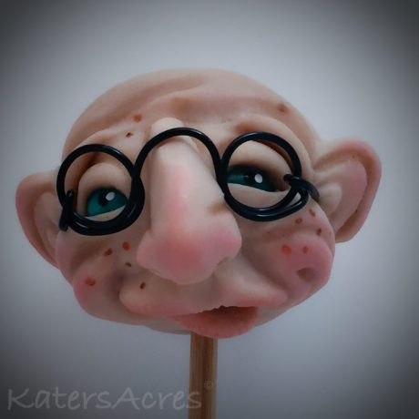 DiNardo my office assistant | Polymer Clay Face Sculpture by Katie Oskin of KatersAcres