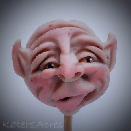 Polymer Clay Fantasy Face Sculpture by Katie Oskin of KatersAcres