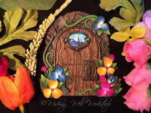 Polymer Clay Spring Fairy Door by Jennifer Sorensen 2016